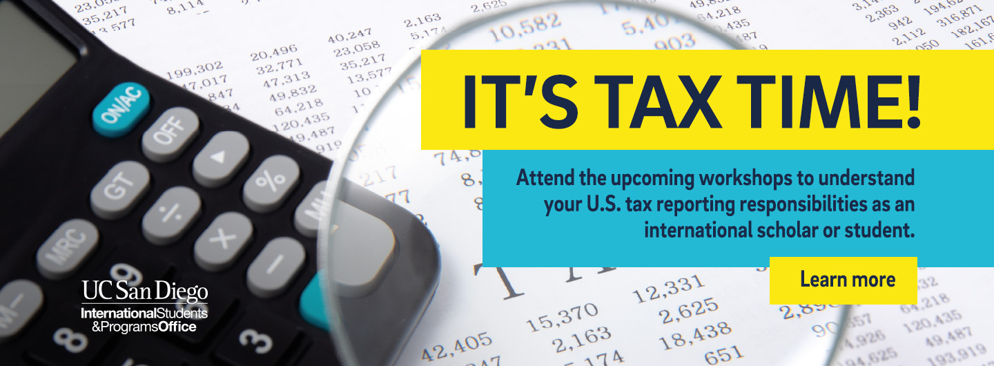 Learn about tax resources, attend tax workshops